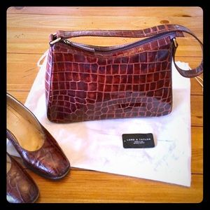 LIKE NEW! Gorgeous Italian Leather Bag Lord&Taylor